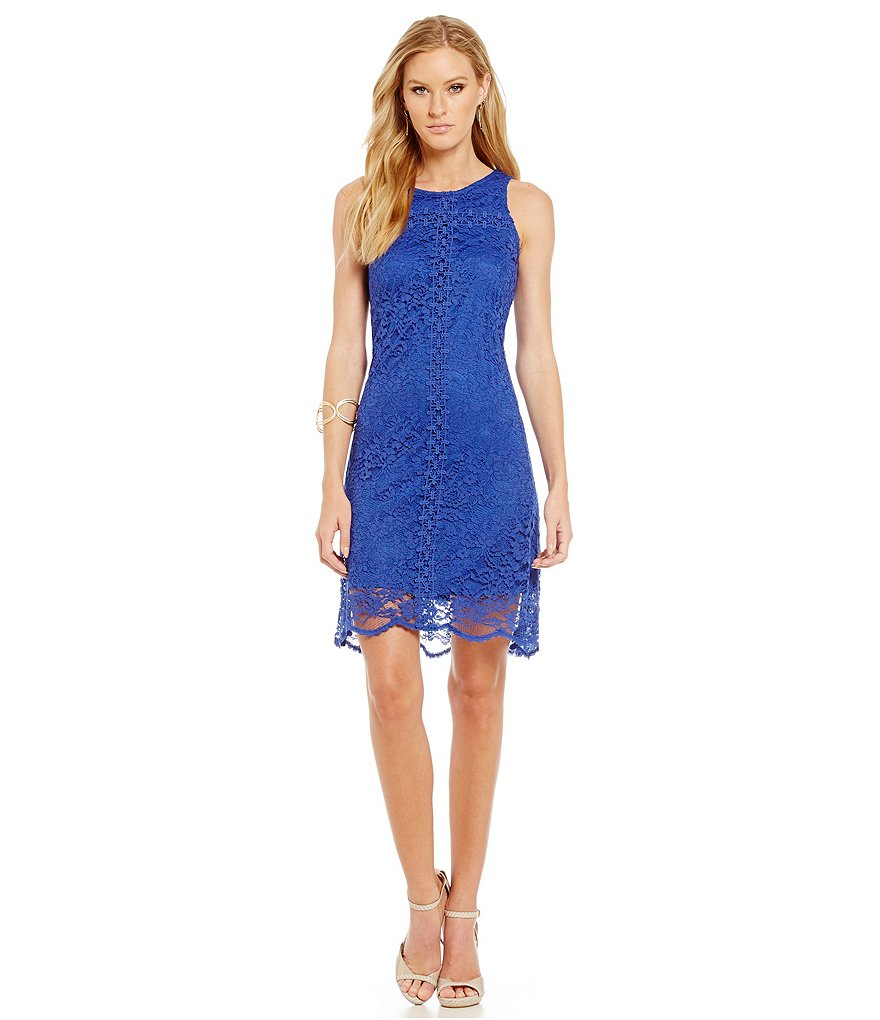Donna Ricco Lace Sleeveless Swing Dress