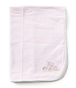 Little Me Baby Bunnies Reversible Receiving Blanket Image