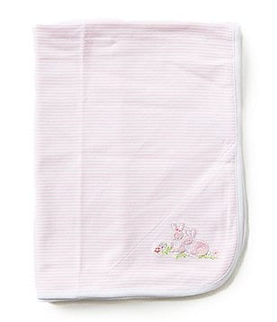 Little Me Baby Bunnies Reversible Receiving Blanket