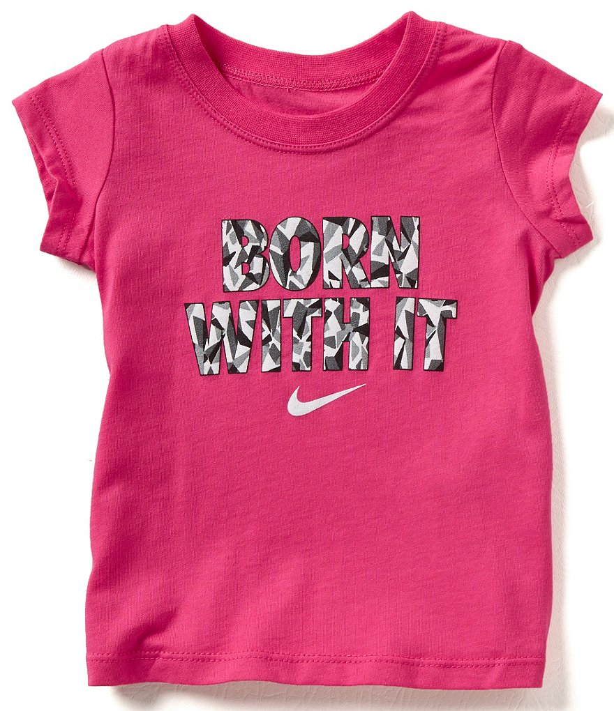 Nike Baby Girls 12-24 Months Born With It Short-Sleeve Tee
