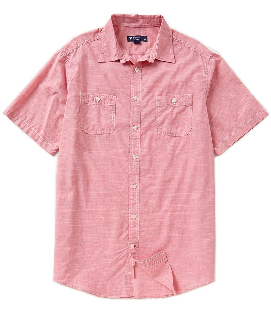 Cremieux Big & Tall Checked Slub Shirt