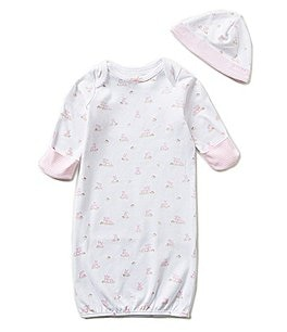 Little Me Newborn Baby Bunnies Gown Image