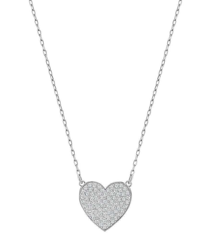Swarovski Cupid Pavé Heart Pendant Necklace