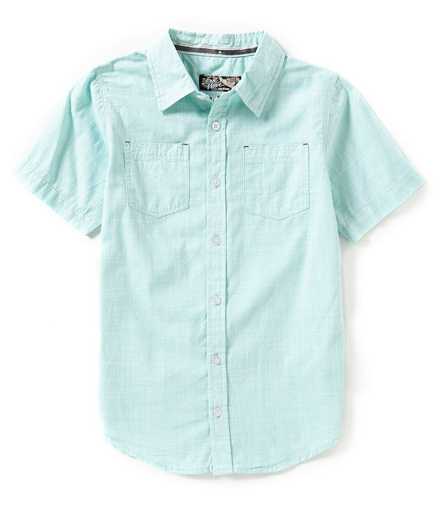 First Wave Big Boys 8-20 Short-Sleeve Woven Shirt