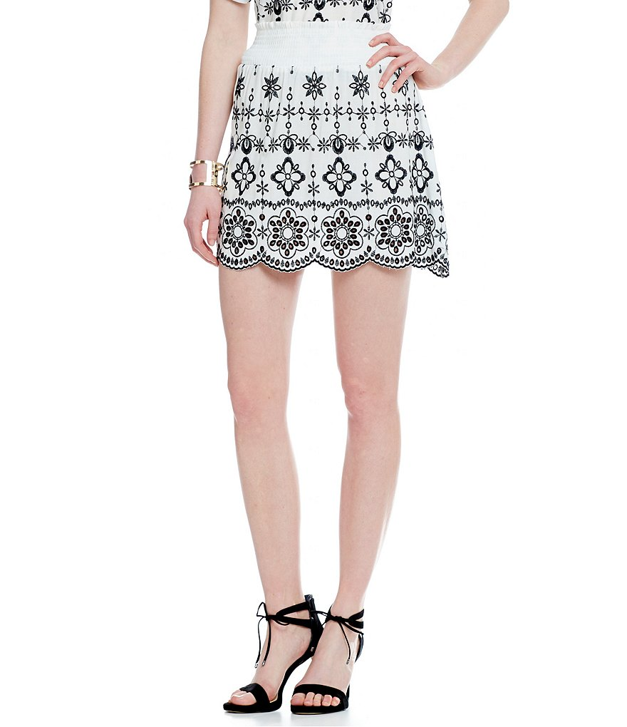 devlin Embroidered Scalloped Sammy Skirt