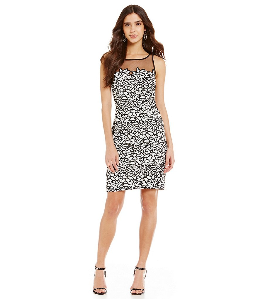 Aidan Aidan Mattox Sleeveless Lace Sheath Dress