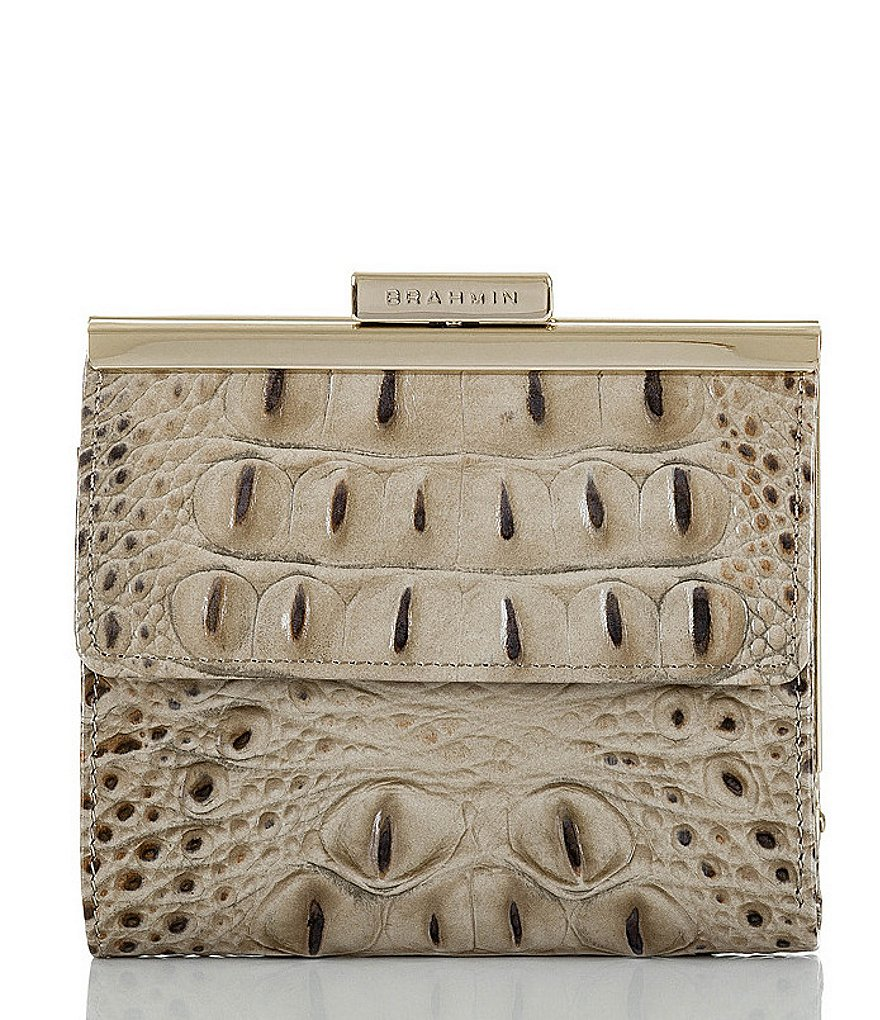 Brahmin Melbourne Collection Tasha Croco-Embossed Wallet