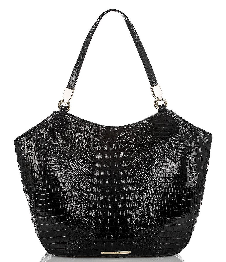Brahmin Melbourne Collection Thelma Croco-Embossed Tote