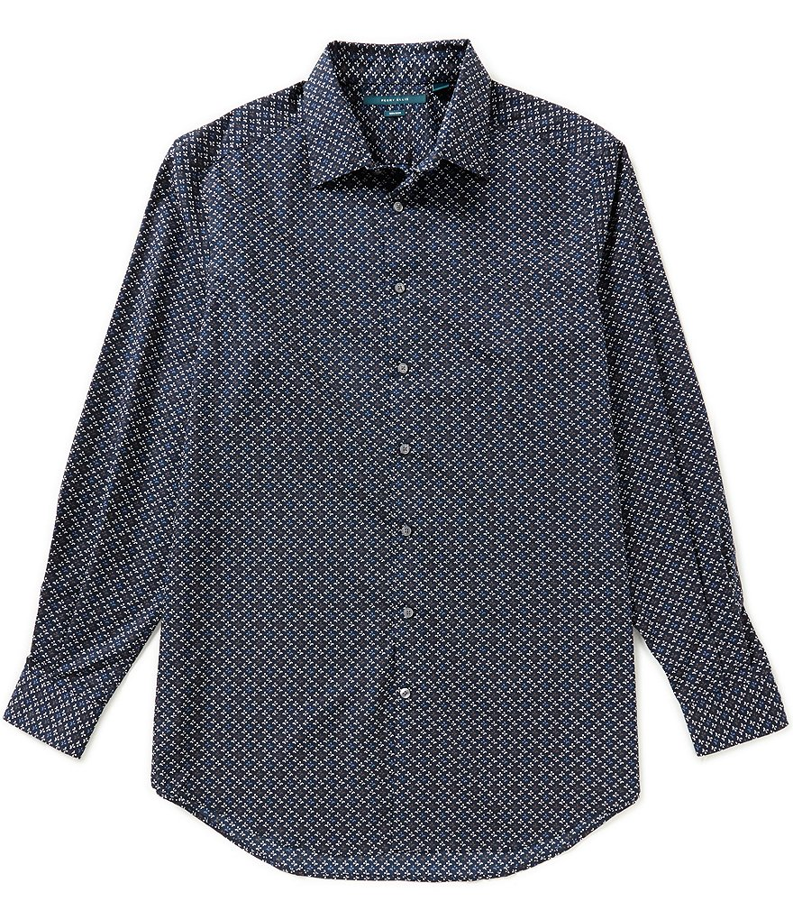 Perry Ellis Big & Tall Non-Iron Long-Sleeve Floral Woven Shirt
