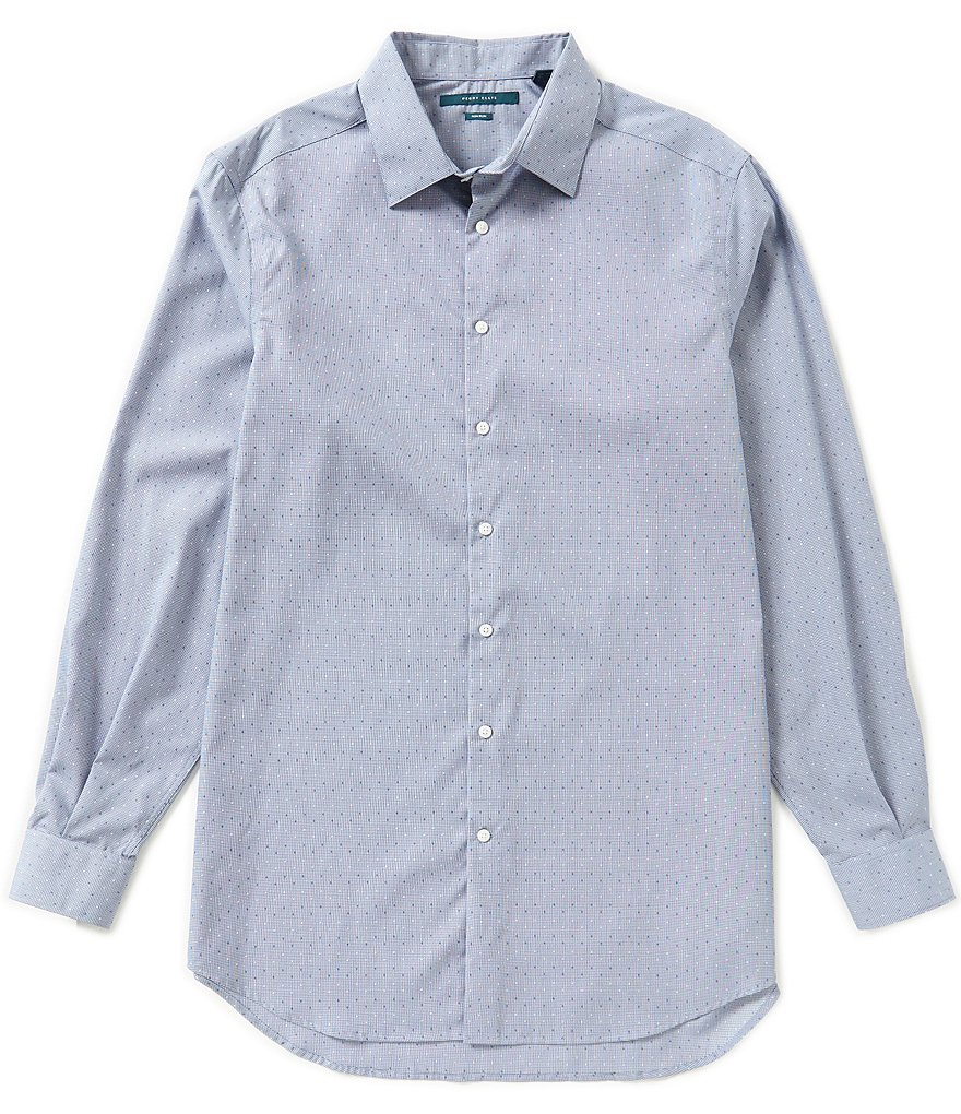 Perry Ellis Big & Tall Non-Iron Long-Sleeve Dobby Woven Shirt