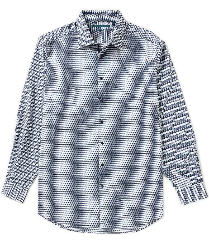 Perry Ellis Big & Tall Non-Iron Long-Sleeve Printed Woven Shirt