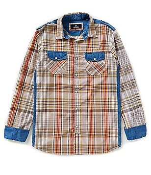 Buffalo David Bitton Sagrit Long-Sleeve Plaid Sportshirt