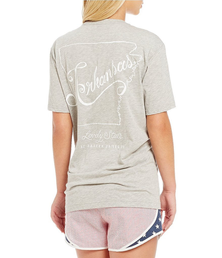 Lauren James Arkansas Line Art Graphic Tee