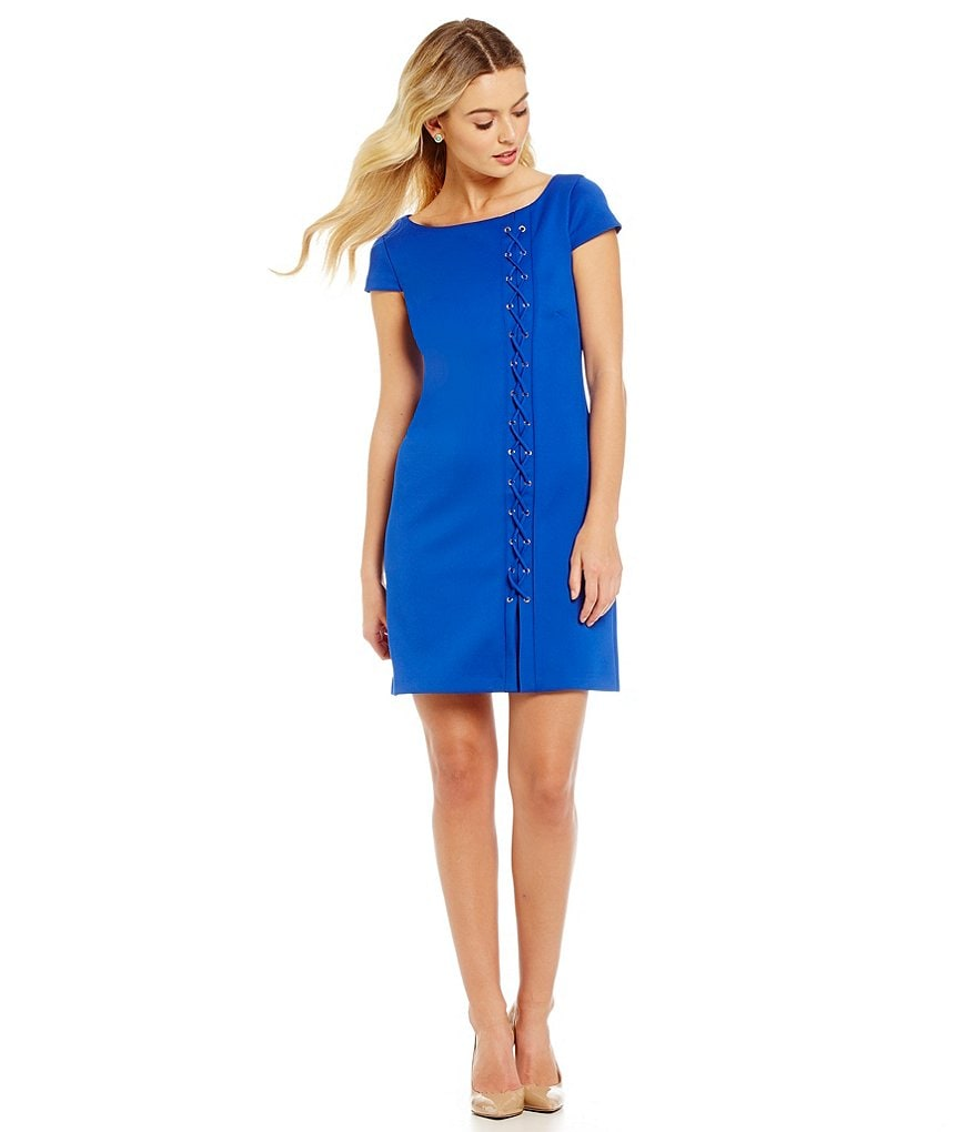 Jessica Simpson Lace Up Side Sheath Dress