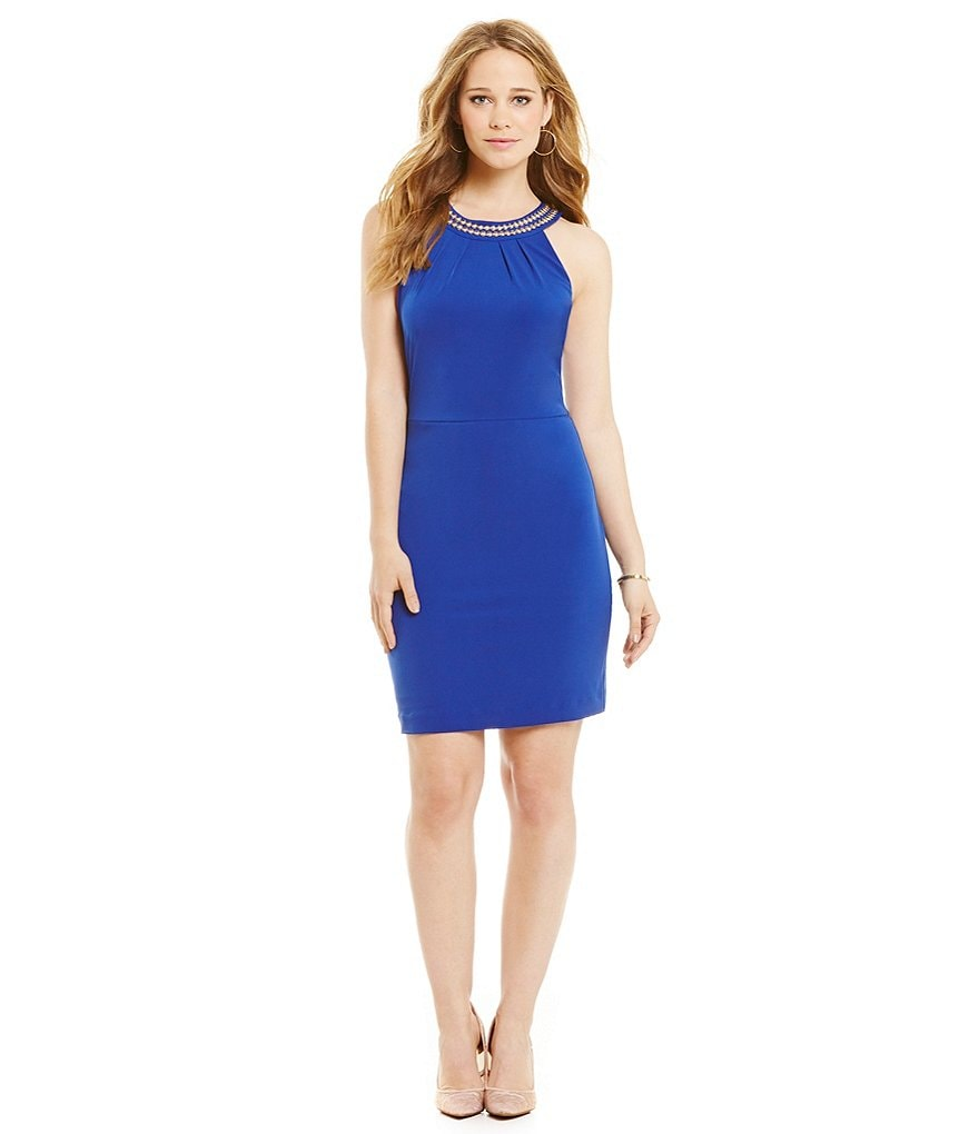 Jessica Simpson Halter Sheath Dress