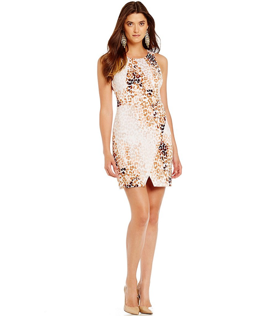 Jessica Simpson Animal Print Wrap Dress