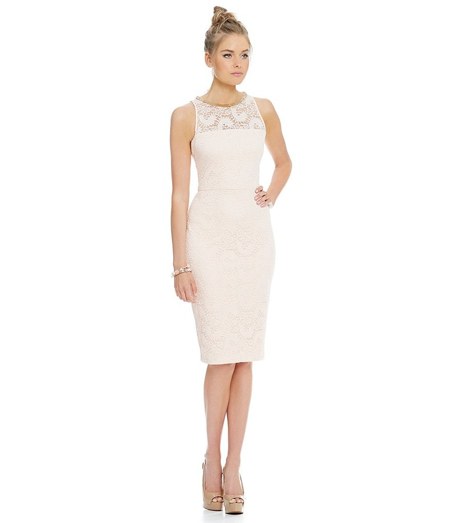Jessica Simpson Lace Midi Dress