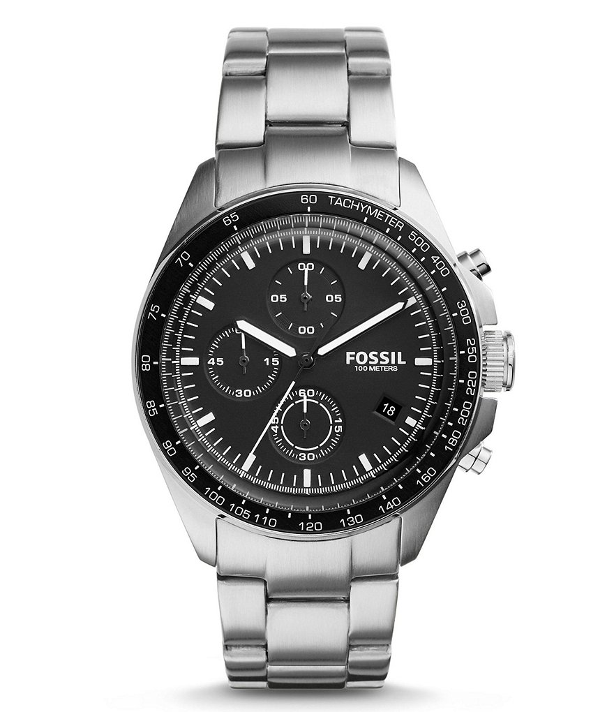 Fossil Sport 54 Chronograph Stainless Steel Bracelet Watch