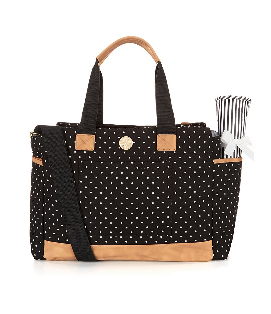 Mud Pie Bigger Bundle Dotted Diaper Bag