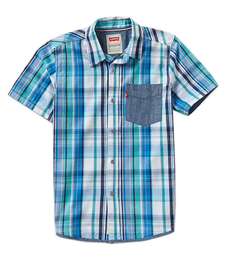 Levi´s® Little Boys 2T-7 Willow One Pocket Woven Shirt