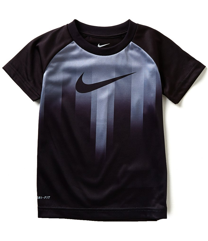 Nike Little Boys 4-7 Motion Swoosh Dri-FIT Short-Sleeve Tee