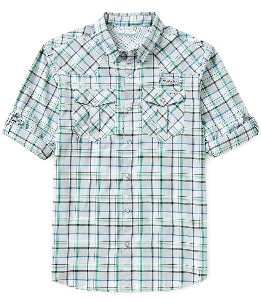 Columbia PFG Beadhead™ Long-Sleeve Plaid Western Shirt