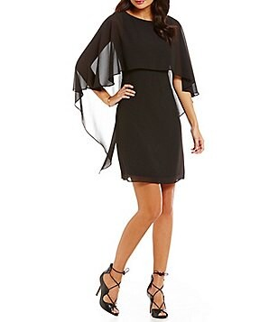 Vince Camuto Cape Chiffon Dress