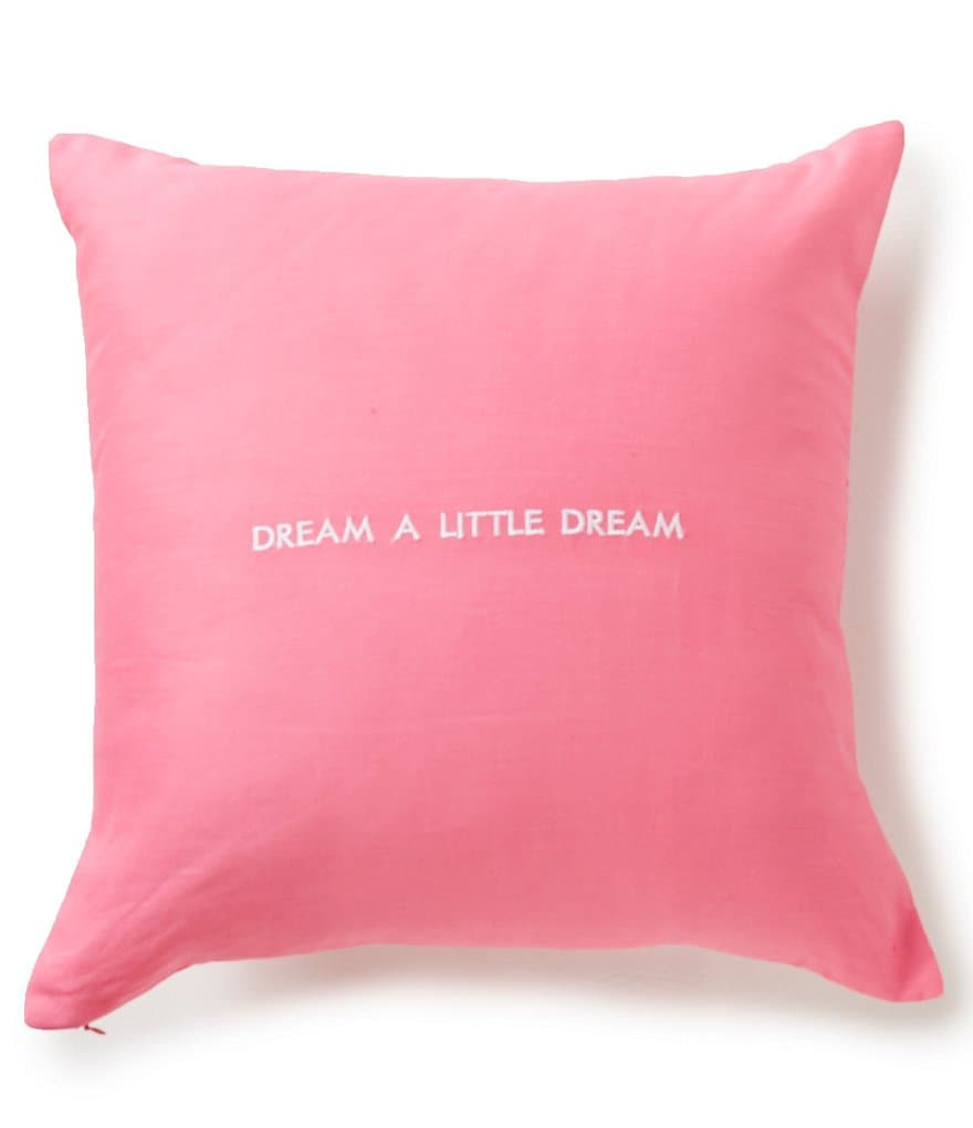 kate spade new york Words of Wisdom Collection Dream A Little Dream Square Pillow