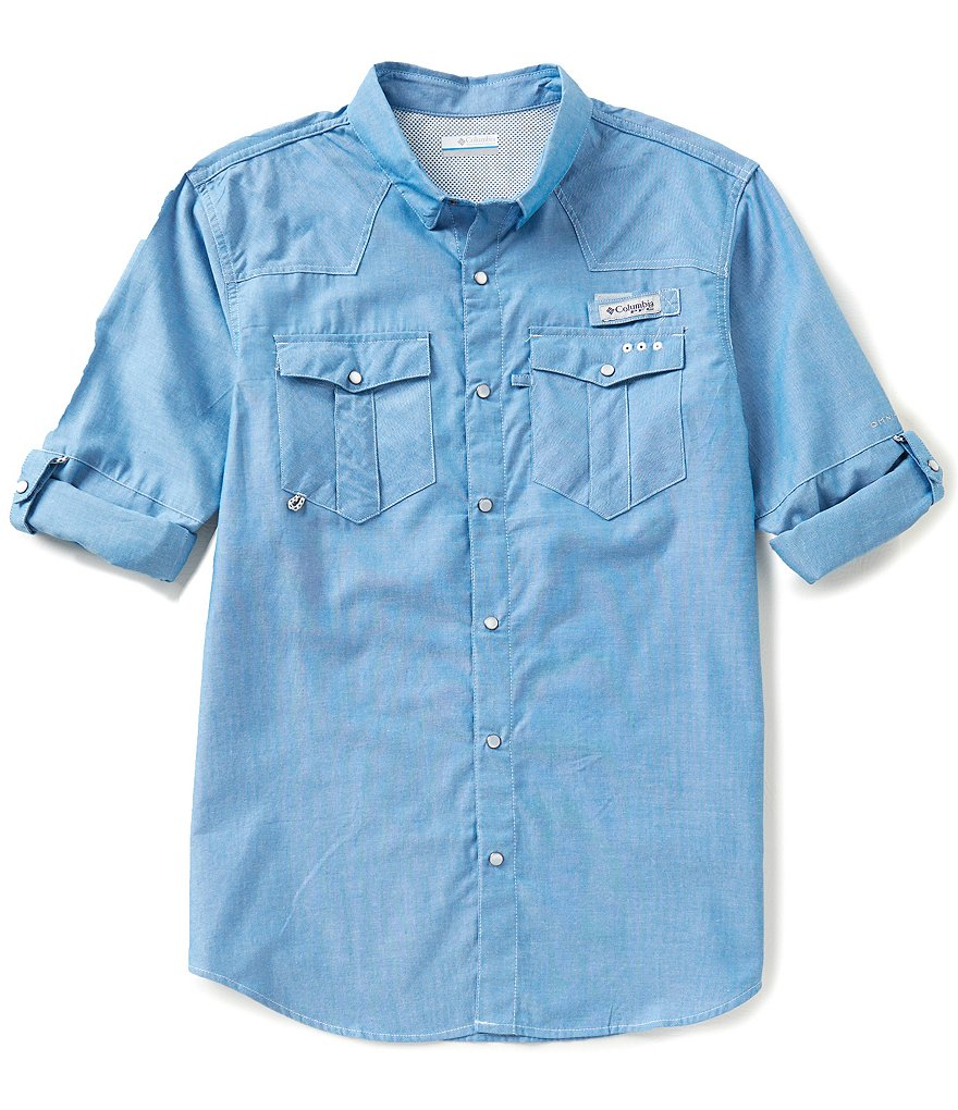 Columbia PFG Beadhead™ Solid Oxford Long-Sleeve Shirt