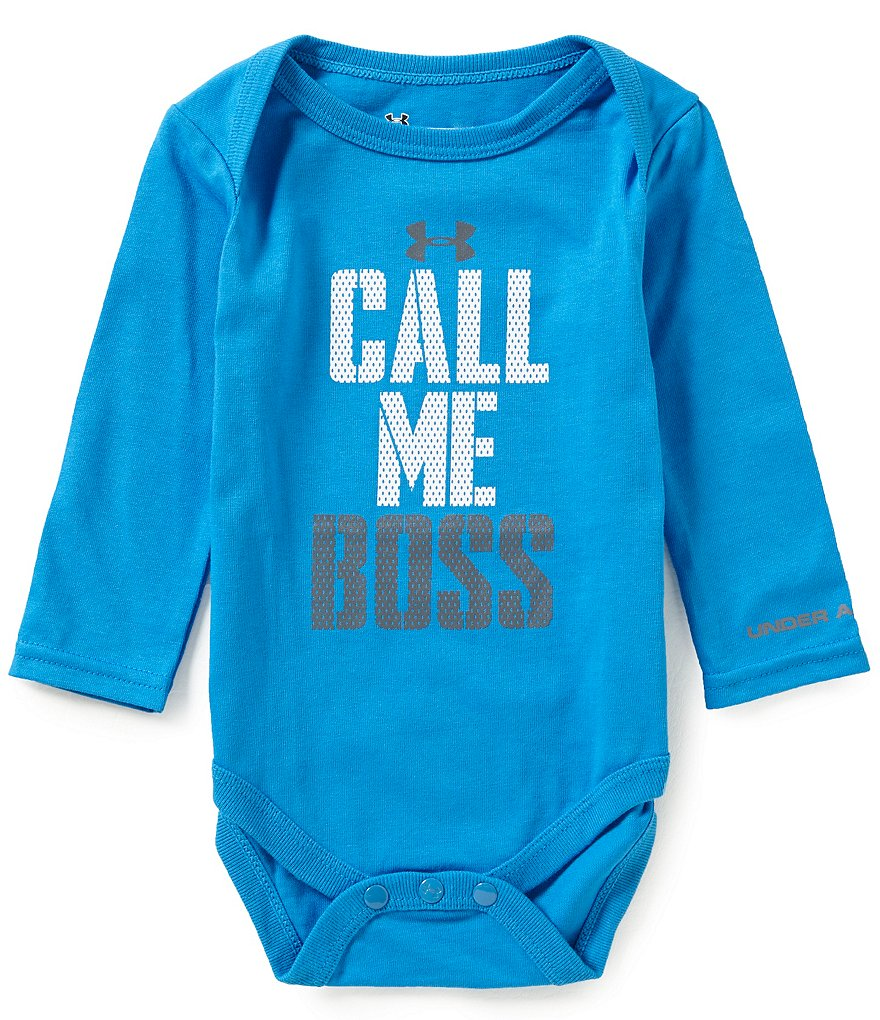 Under Armour Baby Boys Newborn-12 Months Call Me Boss Long-Sleeve Bodysuit