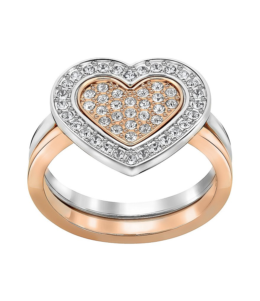 Swarovski Cupid Pavé Heart Ring
