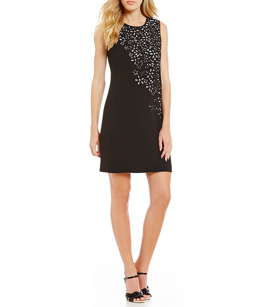 Calvin Klein Laser Cut-Out Sheath Dress