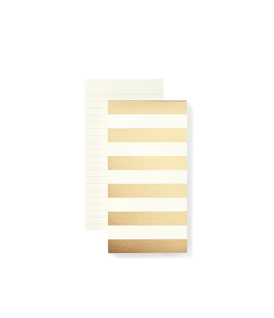 kate spade new york Oversized Gold-Striped Notepad