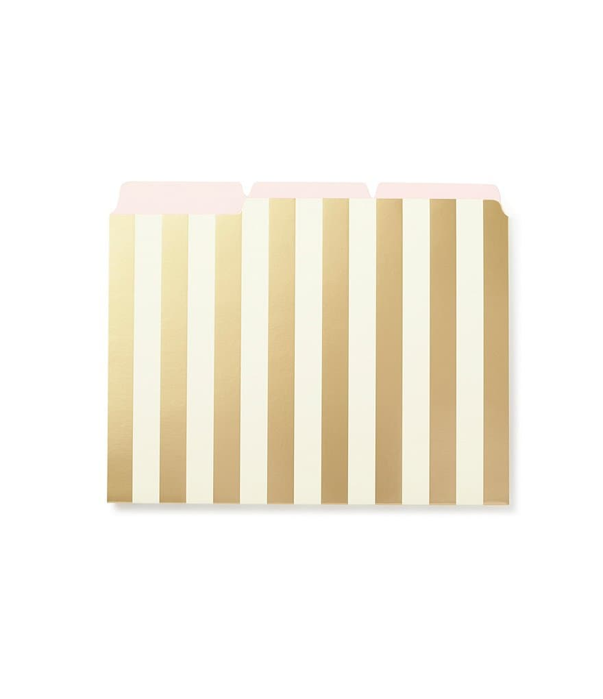 kate spade new york Gold-Striped File Folder Set