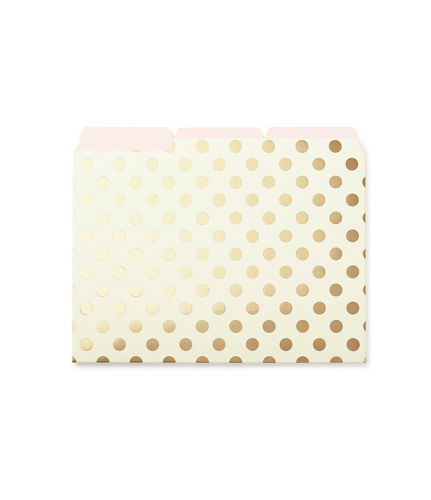 kate spade new york Gold-Dotted File Folder Set