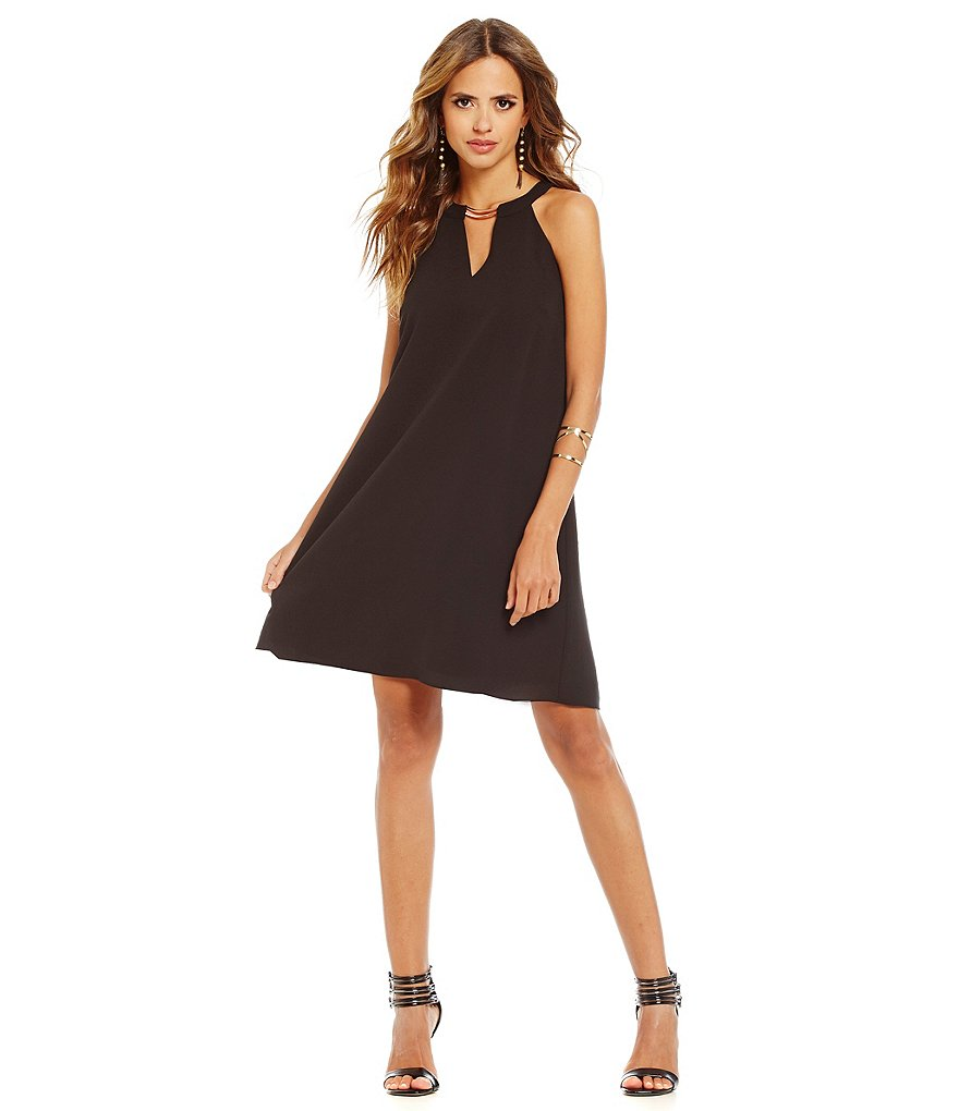 Gianni Bini Charlotte Fan Fav Bar-Neck A-line Dress