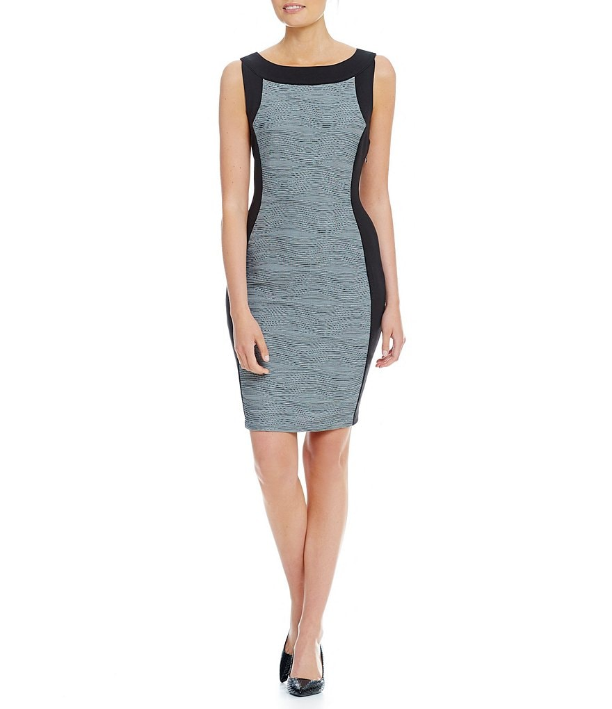 Calvin Klein Wavy Knit Ponte Dress