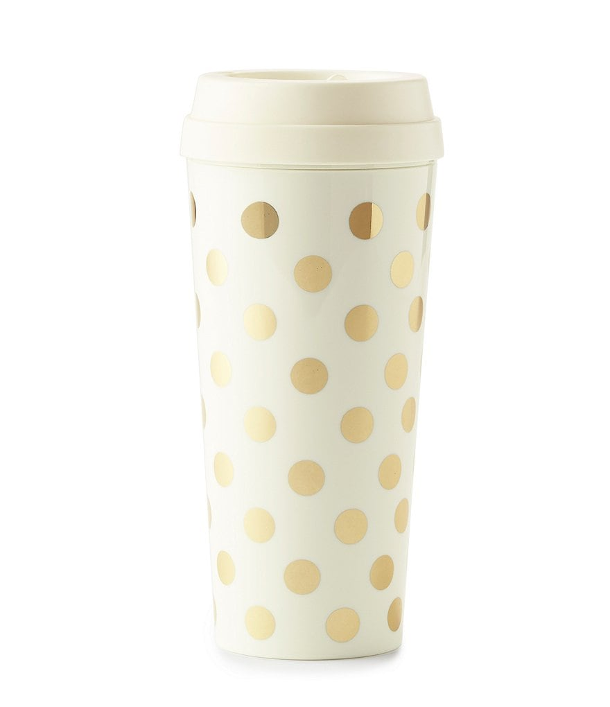 kate spade new york Metallic Dotted Thermal Mug with Lid