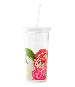 kate spade new york Floral Insulated Tumbler with Straw