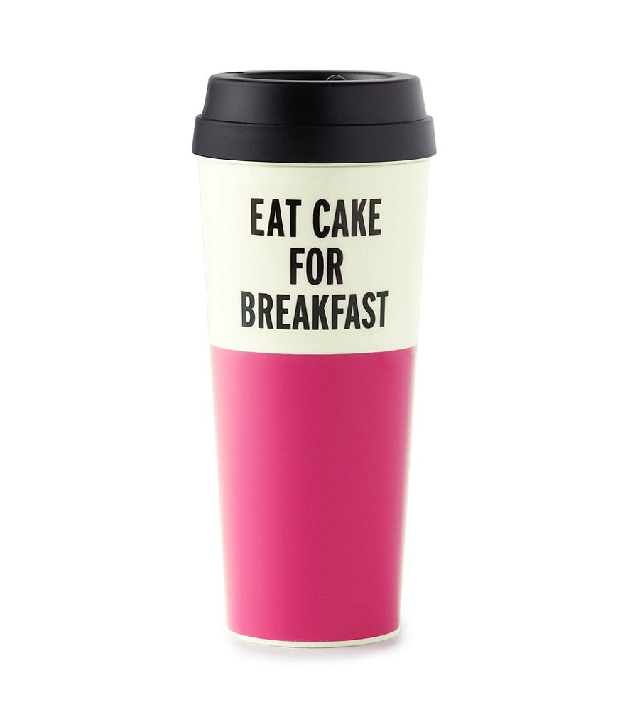 kate spade new york Eat Cake for Breakfast Thermal Mug with Lid