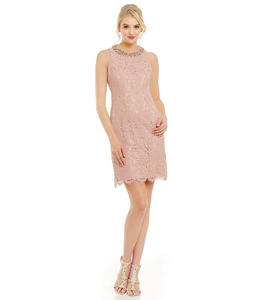 Eliza J Lace Trapeze Dress