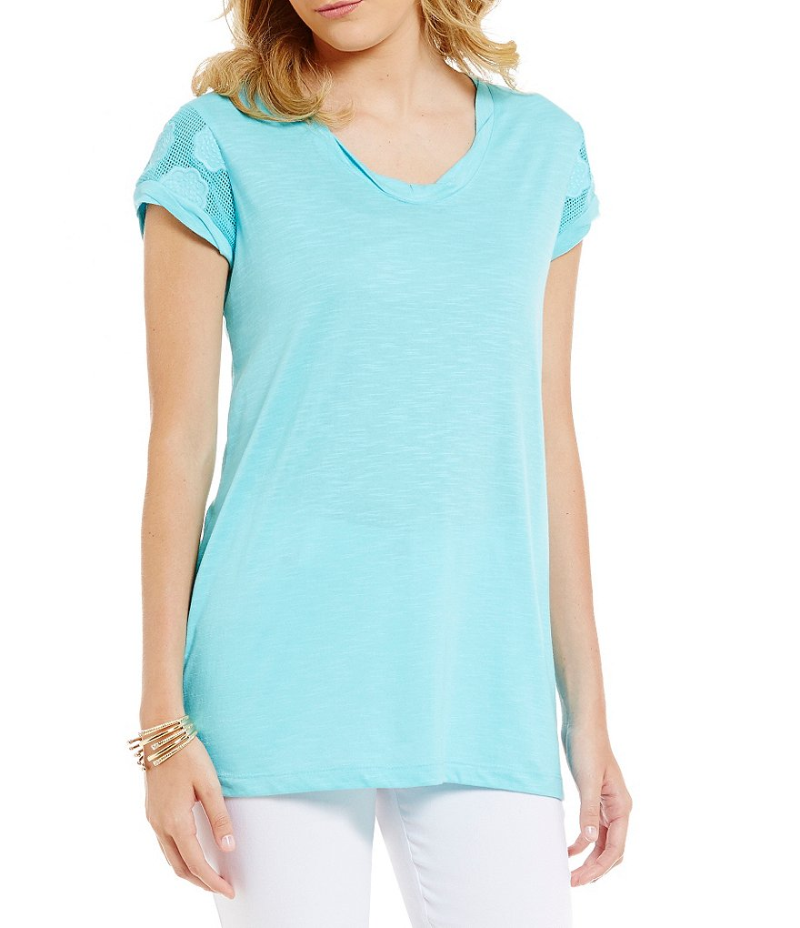 Westbound Petites Mesh Inset Tunic