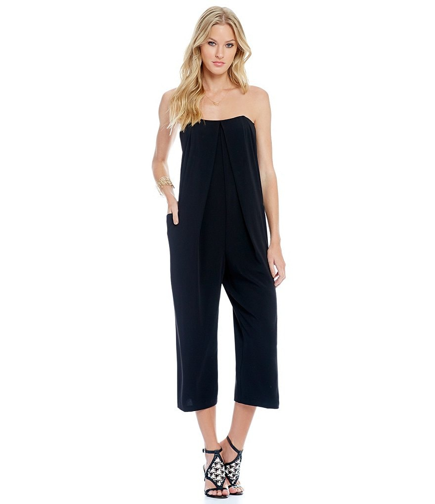 Laundry By Shelli Segal Strapless Culotte Jumpsuit