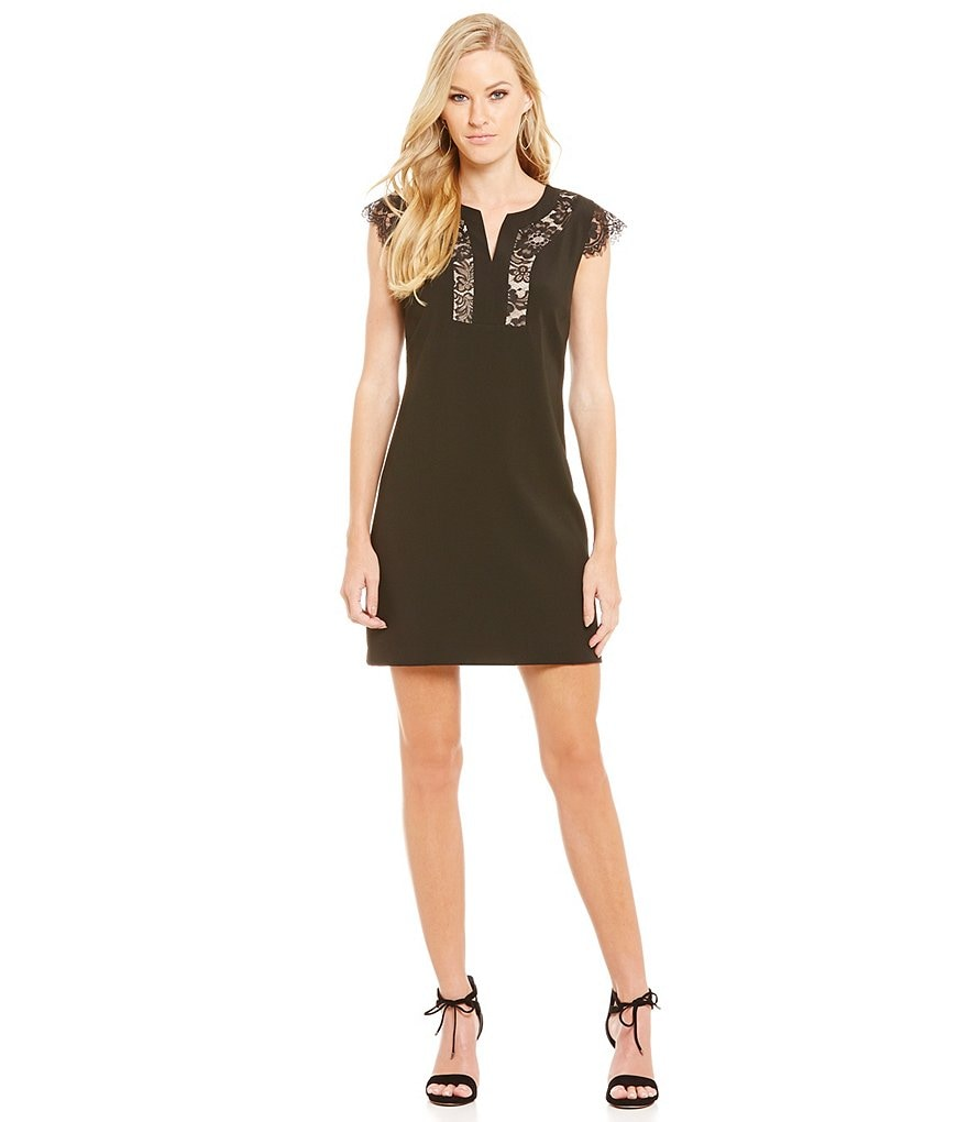 Laundry By Shelli Segal Lace Insert Sheath Dress