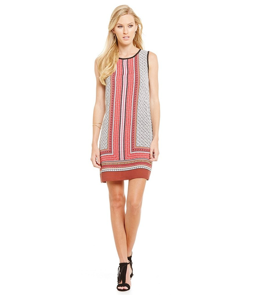 Laundry By Shelli Segal Contrast Trapeze Dress