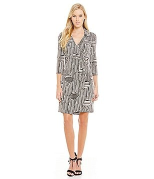 Laundry By Shelli Segal Faux Wrap Dress