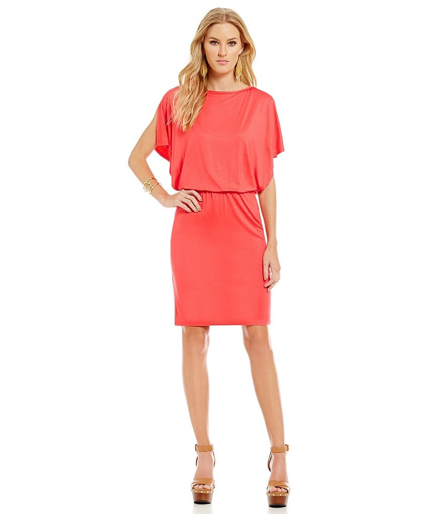 Trina Turk Loper Short Sleeve Blouson Dress