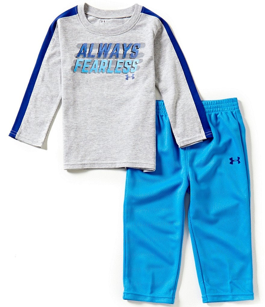 Under Armour Baby Boys 12-24 Months Always Fearless Tee & Mesh Pants Set