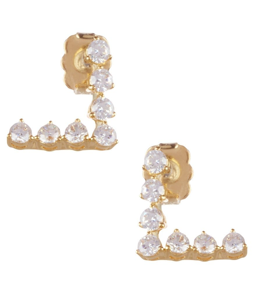 Nadri Salome Cubic Zirconia Angled Earrings