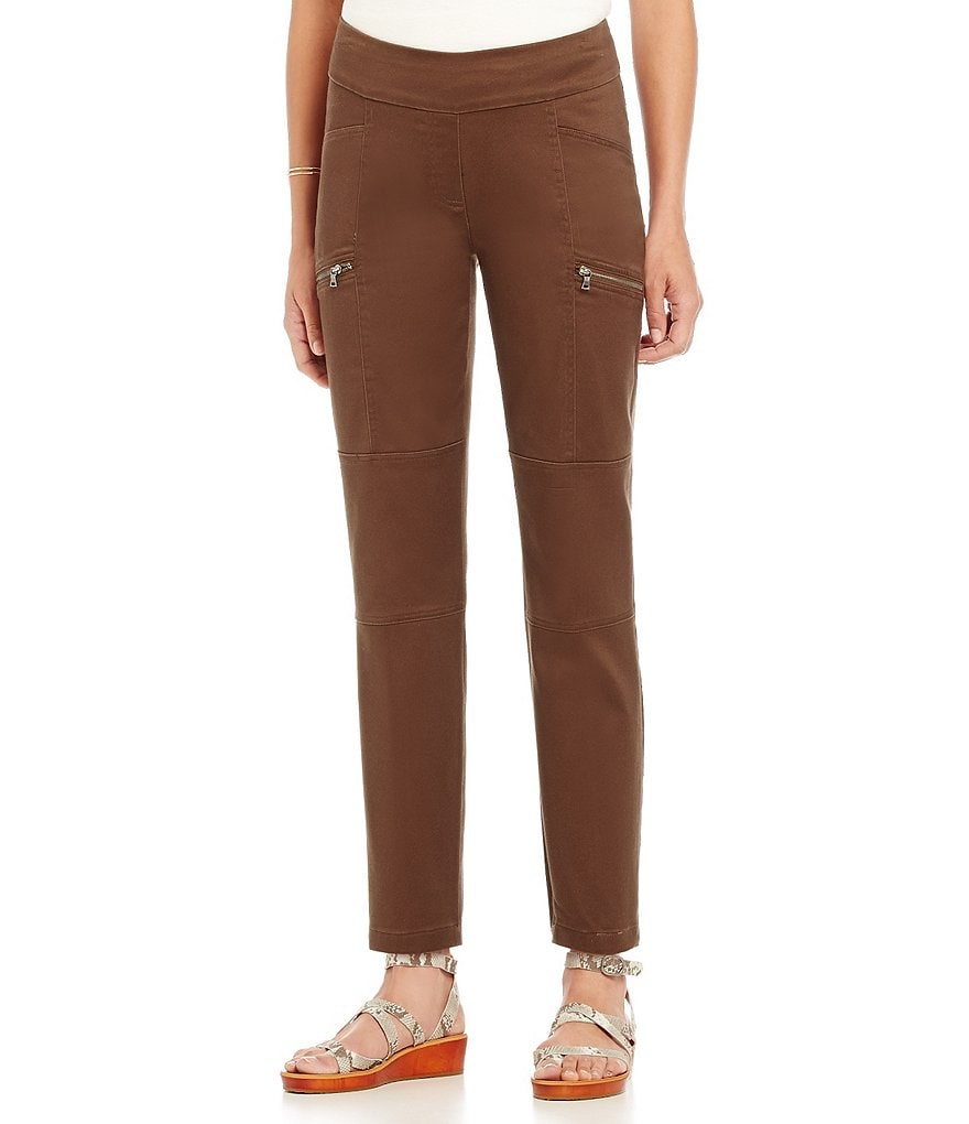 Westbound the PARK AVE fit Sateen Cargo Ankle Pants